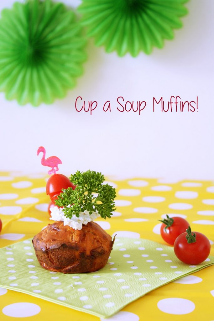 Cup a soup muffins recept voor tomatensoep smaak.