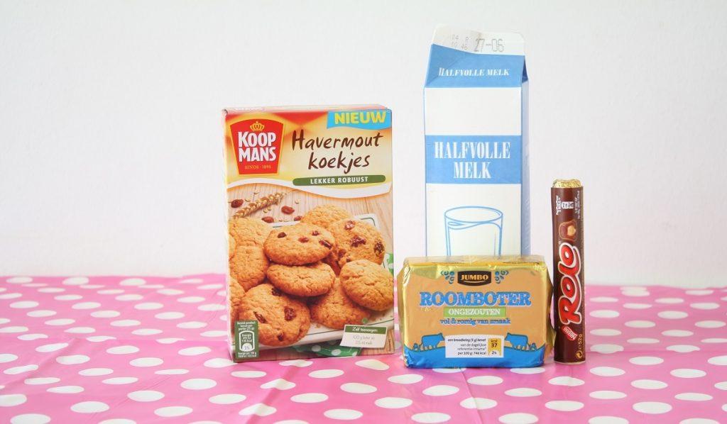recept Havermout Rolo koekjes