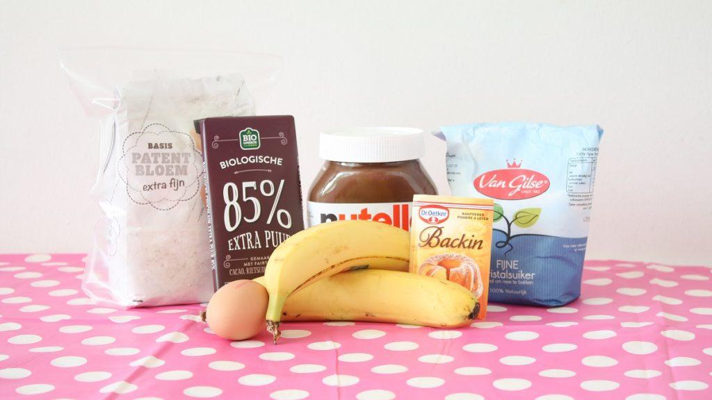 recept voor Muffins met Nutella en banaan