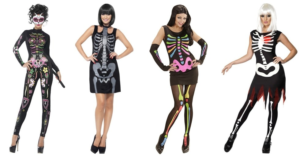 skelet kostuum
