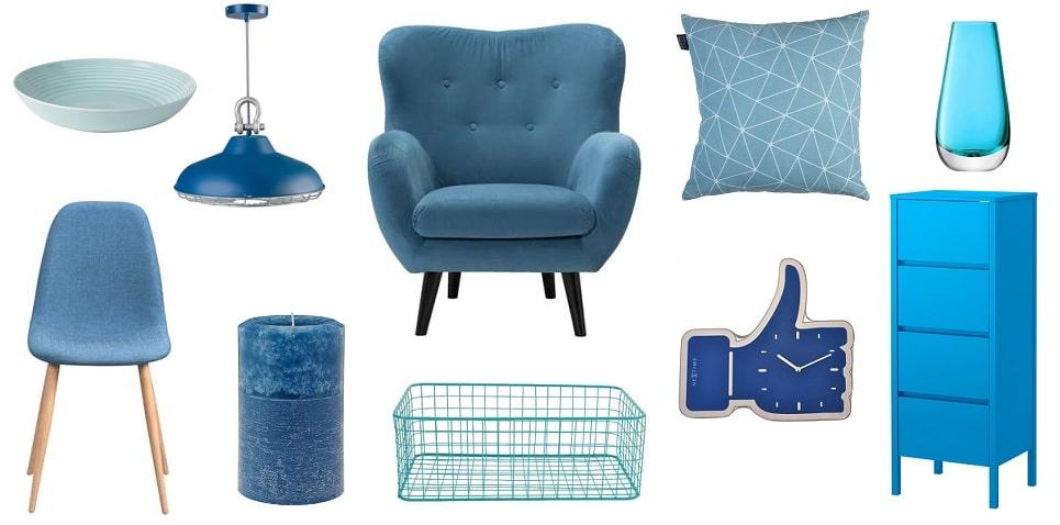 blauw in huis