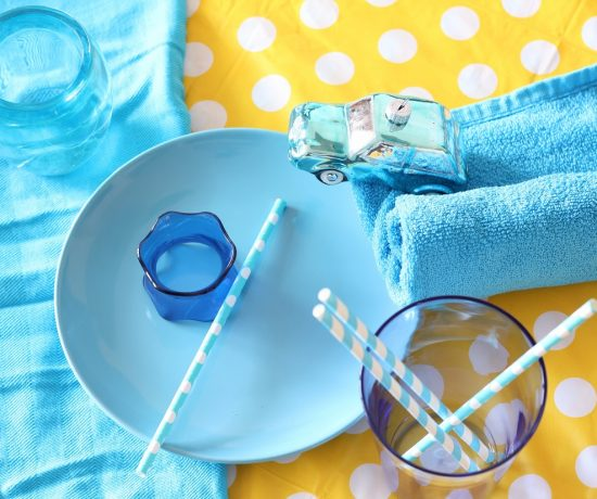 blauwe accessoires