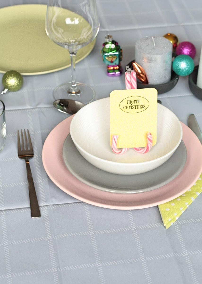 kersttafel met kleur