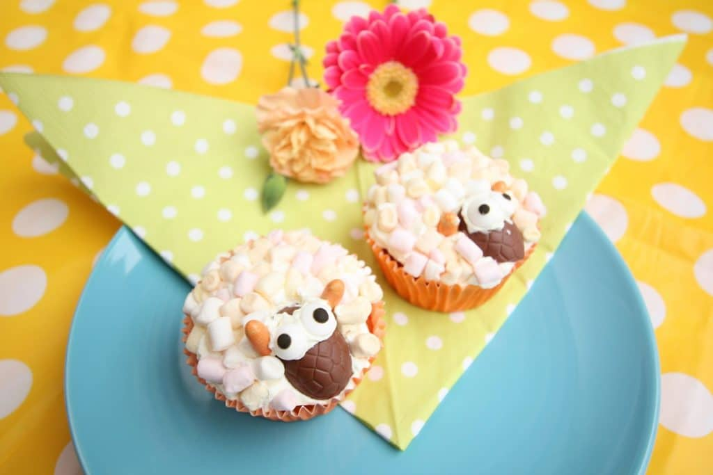 marshmallow schaap cupcakes