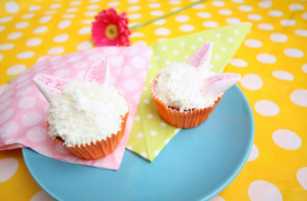 cupcakes met konijnen oren