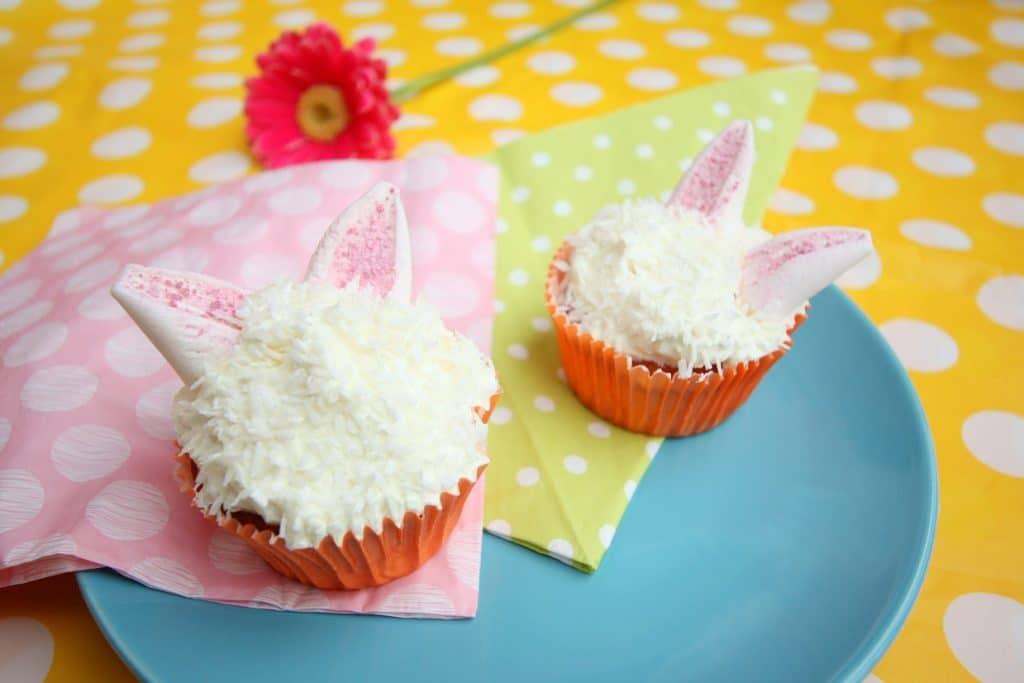 cupcakes met konijnenoren