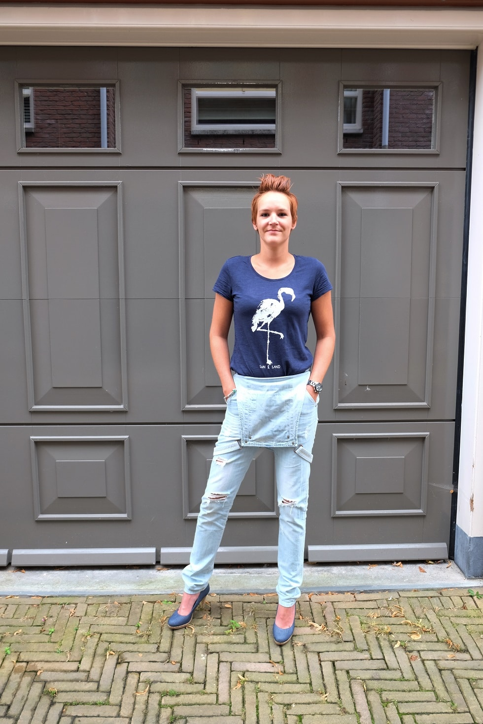 tuinbroek denim