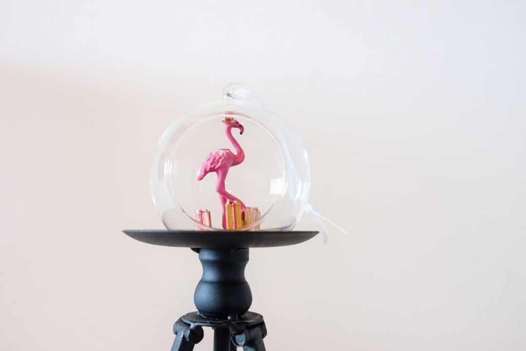 flamingo kerstbal