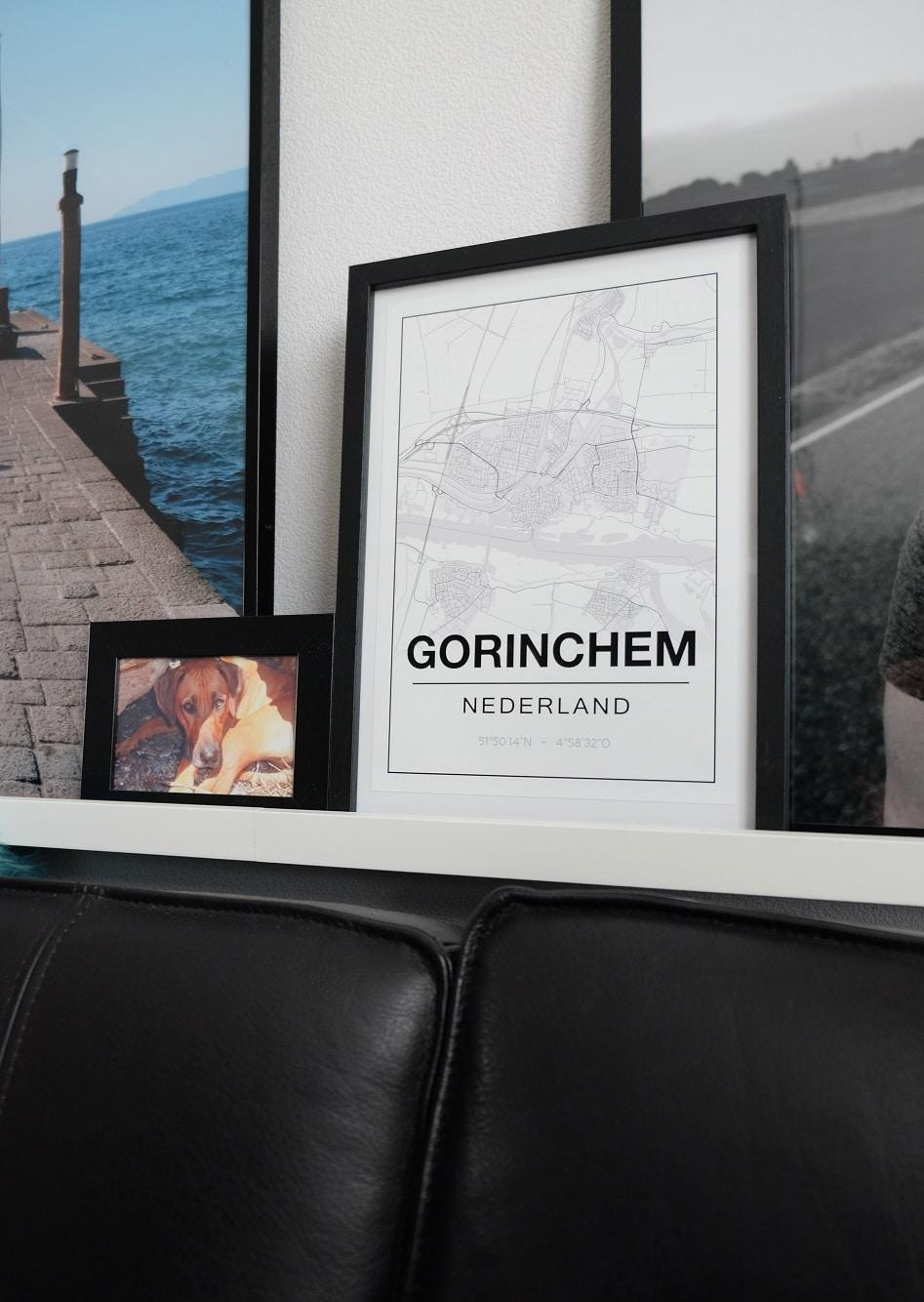 kaart van Gorinchem