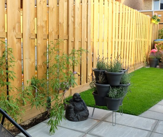 nieuwbouw huis tuin
